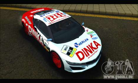 Dinka Jester Racear (GTA V) für GTA San Andreas Rückansicht