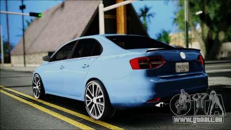 Volkswagen Jetta 2015 pour GTA San Andreas laissé vue