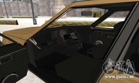 Renault 18 pour GTA San Andreas vue de dessous