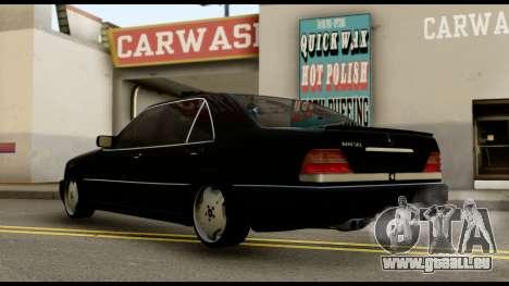 Mercedes-Benz W140 pour GTA San Andreas laissé vue