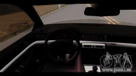 Audi A4 für GTA San Andreas Rückansicht
