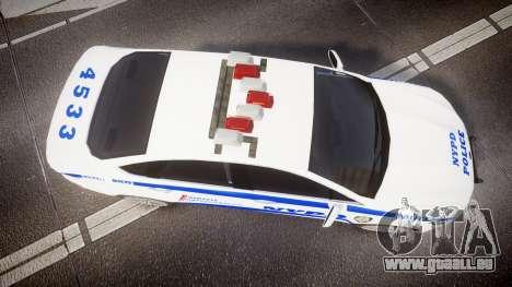 Ford Fusion 2014 NYPD [ELS] für GTA 4 rechte Ansicht