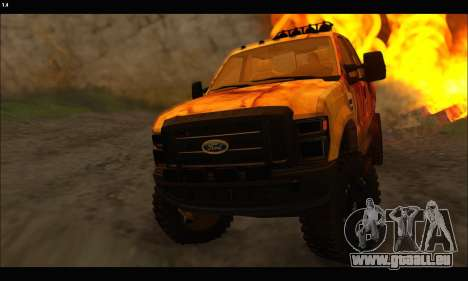 Ford F-250 Rusty Lifted 2010 für GTA San Andreas Innenansicht