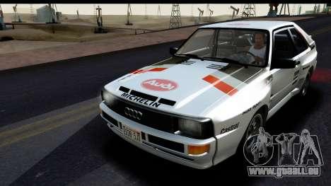 Audi Sport Quattro B2 (Typ 85Q) 1983 [HQLM] für GTA San Andreas Innenansicht