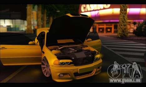BMW M3 Coupe Tuned pour GTA San Andreas vue arrière