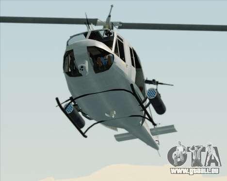 Bell UH-1N Huey USMC für GTA San Andreas Innenansicht