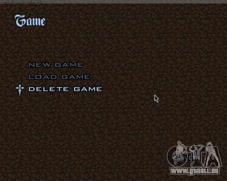 Minecraft Menu pour GTA San Andreas quatrième écran