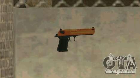 Orange Desert Eagle für GTA San Andreas