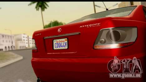 GTA 5 Karin Asterope für GTA San Andreas zurück linke Ansicht