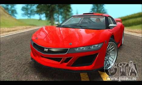 Dinka Jester Racecar (GTA V) (IVF) für GTA San Andreas linke Ansicht