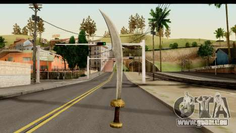 Scimitar Sword From Skyrim für GTA San Andreas zweiten Screenshot