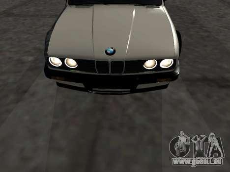 BMW M3 E30 Drift pour GTA San Andreas vue intérieure
