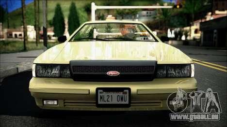 Civillian Vapid Stanier II from GTA 4 pour GTA San Andreas sur la vue arrière gauche