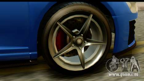 GTA 5 Obey 9F Coupe IVF für GTA San Andreas Rückansicht