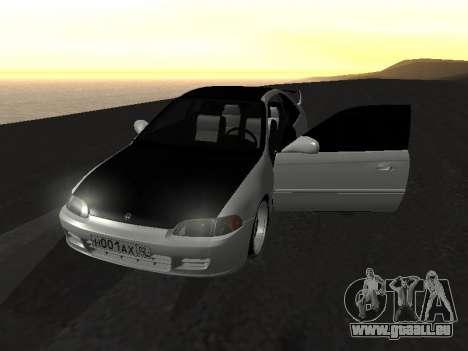 Honda Civic pour GTA San Andreas vue de côté