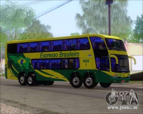Marcopolo Paradiso G6 1800DD 8x2 SCANIA K420 pour GTA San Andreas sur la vue arrière gauche