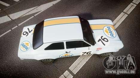Ford Escort RS1600 PJ76 pour GTA 4 est un droit