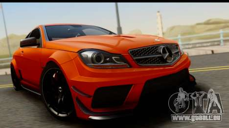Mercedes-Benz C63 AMG 2012 Black Series pour GTA San Andreas