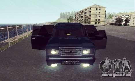 VAZ 2107 Sept-ty pour GTA San Andreas vue de droite