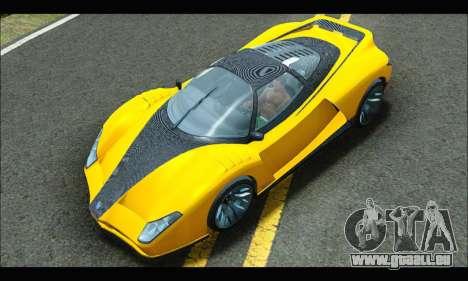 Grotti Cheetah v3 (GTA V) (IVF) pour GTA San Andreas vue de droite