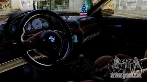 BMW M3 E46 Sport PG pour GTA San Andreas sur la vue arrière gauche