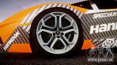 Lamborghini Aventador 2012 [EPM] Hankook Orange für GTA 4 Rückansicht