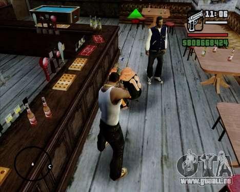 Indicateur numérique de vie adversaires pour GTA San Andreas quatrième écran