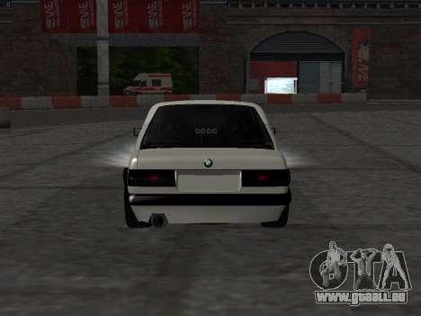 BMW M3 E30 Drift pour GTA San Andreas vue arrière