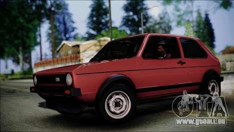 Volkswagen Golf Mk1 GTD pour GTA San Andreas