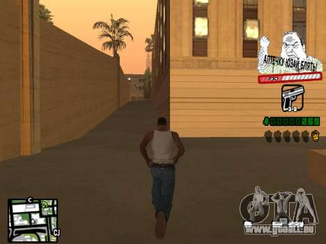 C-HUD for Ghetto für GTA San Andreas zweiten Screenshot