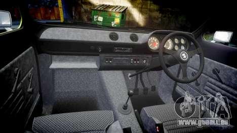 Ford Escort RS1600 PJ40 pour GTA 4 est une vue de l'intérieur