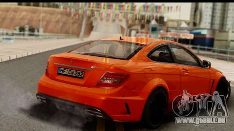 Mercedes-Benz C63 AMG 2012 Black Series pour GTA San Andreas laissé vue