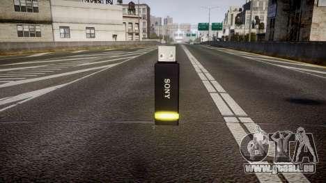 Lecteur flash USB Sony jaune pour GTA 4 secondes d'écran