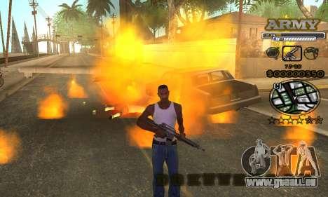 C-HUD Army pour GTA San Andreas sixième écran