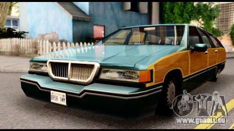 Elegant Station Wagon with Wood Panels für GTA San Andreas rechten Ansicht