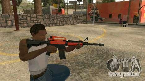 Orange M4A1 für GTA San Andreas fünften Screenshot