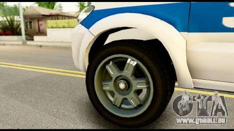 Toyota Hilux Georgia Police für GTA San Andreas zurück linke Ansicht