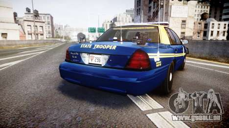Ford Crown Victoria Virginia State Police [ELS] für GTA 4 hinten links Ansicht