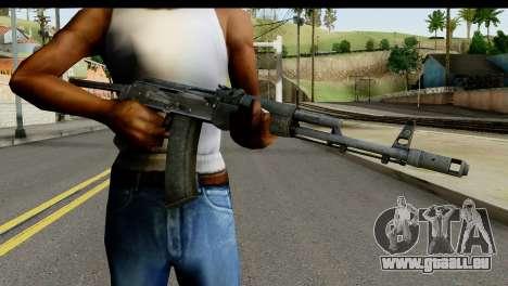 Plastique AKS-74 pour GTA San Andreas troisième écran