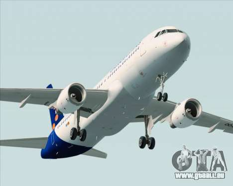 Airbus A320-200 Brussels Airlines für GTA San Andreas obere Ansicht