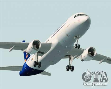 Airbus A320-200 Brussels Airlines pour GTA San Andreas vue de dessus