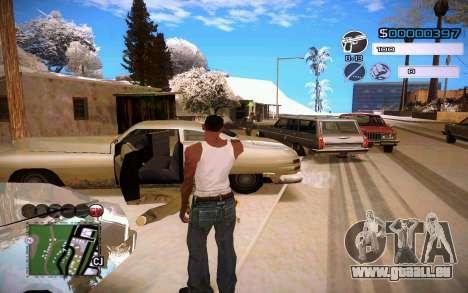 C-HUD by Jeremy Wilsher pour GTA San Andreas deuxième écran