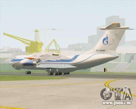 IL-76TD Gazprom Avia für GTA San Andreas rechten Ansicht