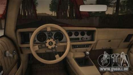 Pontiac Turbo Trans Am 1980 Bandit Edition pour GTA San Andreas vue de droite
