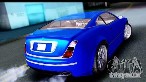 GTA 5 Enus Cognoscenti Cabrio pour GTA San Andreas laissé vue