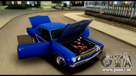 Chevrolet Chevelle SS 396 L78 Hardtop Coupe 1967 für GTA San Andreas Innenansicht