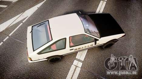 Toyota AE86 Tofu für GTA 4 rechte Ansicht