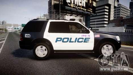 Ford Explorer 2008 Police [ELS] pour GTA 4 est une gauche