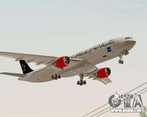 Airbus A330-300 SAS Star Alliance Livery für GTA San Andreas zurück linke Ansicht