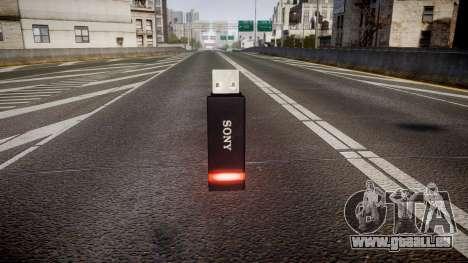 Lecteur flash USB Sony rouge pour GTA 4 secondes d'écran